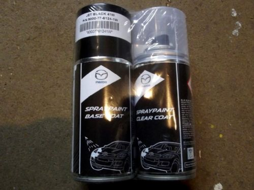 Paint spray kit, genuine Mazda, 41W, Jet Black